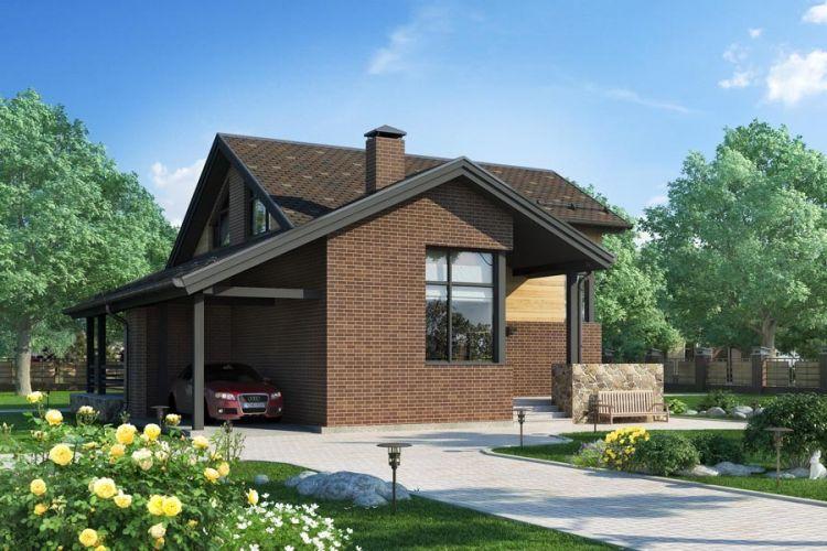 Фото и проекты домов и коттеджей из бруса